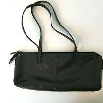 Fossil Small Black Leather Handbag Purse Photo