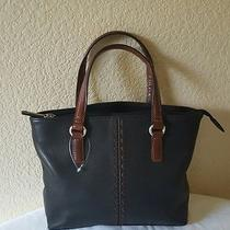 Fossil Small Black Leather Purse Bag Handbag  Photo