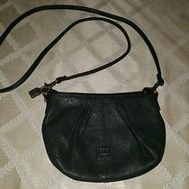 Fossil Small Black Leather Shoulder Crossbody Bag Photo