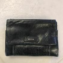 Fossil Small Black Leather Womens Wallet Photo
