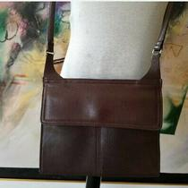 Fossil Small Brown Leather Organizer Crossbody Purse. Photo