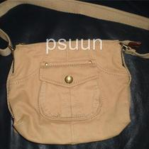 Fossil Small Camel Saddle Crossbody Messenger Bag Purse Nwot Photo
