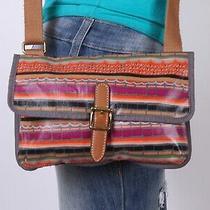 Fossil Small Coated Canvas Multicolor Shoulder Hobo Cross Body Purse Bag Photo