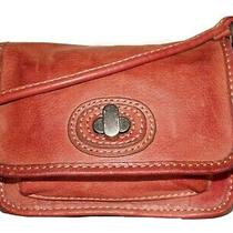 Fossil Small Coral-Tan Small Aged Leather 5 X 6 Mini Crossbody Shoulder Bag Photo