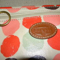 Fossil Small Crossbody Messenger Bag Coated Canvas Barely Used Condition Photo
