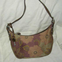 Fossil  Small Floral Tapestry Handbag Tote W/ Key Photo