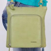 Fossil Small Green  Leather Crossbody Shoulder Hobo Tote Satchel Purse Bag Photo