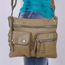 Fossil Small Green Leather Shoulder Hobo Tote Cross Body Satchel Purse Bag Photo