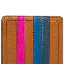 Fossil Small Logan Leather Rfid Bi-Fold Wallet - Brown - Nwt Photo