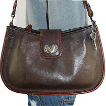 Fossil Small Medium Leather Shoulder Hobo Tote Satchel Slouch Purse Bag Photo