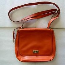 Fossil Small Orange Leather Cross Body Bag Photo