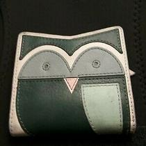 Fossil Small Owl Wallet and Coin Purse in Blue Cream Green Photo