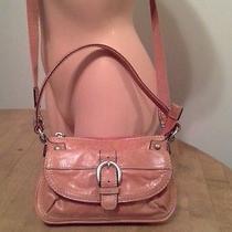 Fossil Small Purse Leather/canvas Convertible Crossbody Hobo Bag-Orange Photo