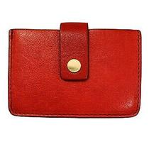 Fossil Small Red Accordion Leather Card Wallet Photo