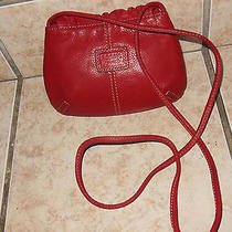 Fossil Small Red Leather Crossbody Purse Photo