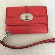 Fossil Small Red Leather Wallet Euc Photo