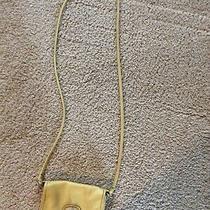 Fossil Soft Quality Leather Crossbody Shoulder Bag Purse Handbag in Yellow. Photo