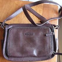 Fossil Solid Brown Leather Shoulder Purse Photo