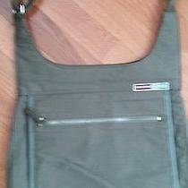 Fossil Sporttravel Khaki Green Canvas Crossbody Bag Handbag Shoulder Bag Tote Photo