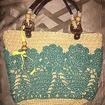 Fossil Straw Purse/tote/handbag Photo