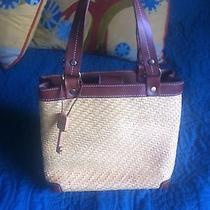 Fossil Straw With Leather Trim Handbag-Wood Key- Tans Brown Love This Photo