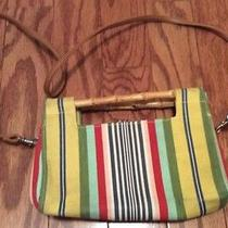 Fossil Striped Bag With Wood Handle Photo