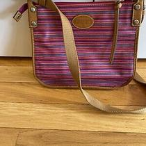 Fossil Striped Coated Canvas Crossbody Xlnt Photo