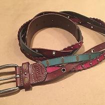 Fossil Studded Multi-Braid Leather Belt Photo