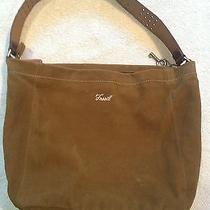 Fossil Suede Handbag Brown Photo
