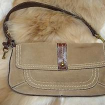 Fossil Suede Small Shoulder Bag Very Nice  Photo