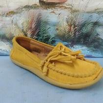 Fossil Suede Yellow Tassel Loafers Moccasins Flats Shoes Women's Sz 10  1109 Photo