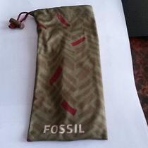 Fossil Sunglasses Case Cinch Pouch Green/red Photo