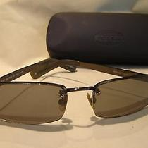 Fossil Sunglasses Sunwear Unisex Black Metal Frame Gray Lenses 55-17-125  W/case Photo