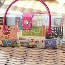 Fossil Super Cute Hard Shell Cosmetic Bag or Sunglasses Holder Photo