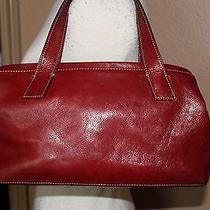 Fossil Super Cute Pebble Leather Satchel Handbag Purse Bag Photo