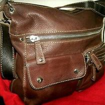 Fossil Sutter Very Nice Large Brown Leather Crossbody Lots of Storage Euc Photo