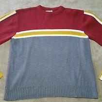 Fossil Sweater Pull Over Mens Medium Red Gray Yellow Very Nice  Photo