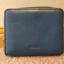 Fossil Sydney Blue Mini Bi-Fold Wallet Coin  Photo