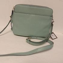 Fossil Sydney Crossbody in Sea Glass Pebbled Leather Nwt Photo