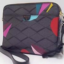 Fossil Sydney Print Crossbody (Grey Multi) Photo
