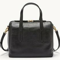 Fossil Sydney Satchel Midnight Navy Leather Handbag Shoulder Bag Tote Nwt Photo