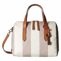 Fossil Sydney Small Cotton Satchel (Neutral Stripe) Photo