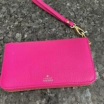Fossil Sydney Zip Phone Wallet/clutch - Hot Pink Photo