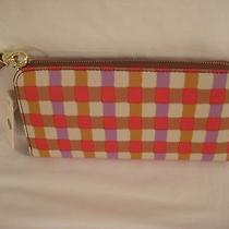 Fossil Sydny Sig Red & Other Multi Color Zip Around Clutch Wristlet Wallet Nwt  Photo
