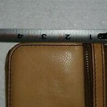 Fossil Tan Camel Color Leather Wallet Used Id  Credit Cards Photo