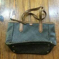 Fossil Tan & Gray Handbag Purse Photo
