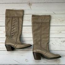 Fossil - Tan Knee High Heeled Riding Boots - Size Womens 6.5 Photo