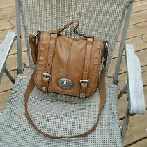 Fossil Tan Leather Front Flap Shoulder Bag/cross Body/messenger Photo
