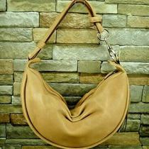 Fossil Tan Pebbled Leather Zip Top Tassel Hobo Shoulder Hand Bag Purse Photo