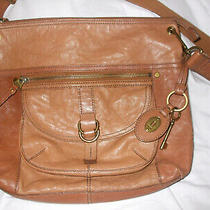 Fossil Tan Shoulder Bag Bross-Body Handbag Purse Photo
